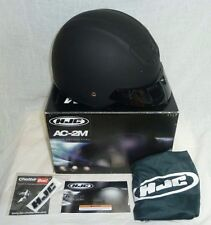 New HJC AC-2M Open Half Face Motorcycle Scooter Helmet Matte Black XS, with Box