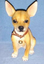 """13"""" CHIHUAHUA Sitting Statue Figurine Resin Animals Dogs WELCOME Canine Decor"""