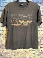 Vintage Harley Davidson Milwaukee Wisconsin WI Black T Shirt Sz L Rare🔥110th