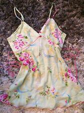 Oscar De La Renta Roses Nighty Gown Baby Doll Lingerie Slip Pink Label Sz M - L