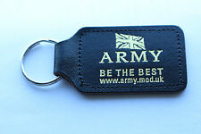 10x Quality UK Army Police Military Be The Best Leather Key Ring