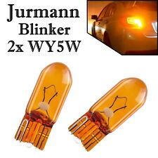 2x Jurmann WY5W 12V Orange Ersatz Blinker Glassockel Halogen Lampe E-geprüft