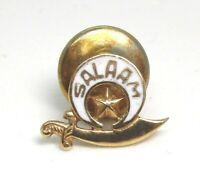 SALAAM SHRINER / MASON 14K Gold / Enamel Lapel Pin 0.9 grams lot 36f1