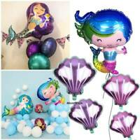 Shell Mermaid Balloon Under the Sea Party Decorations For Birthday Baby Shower