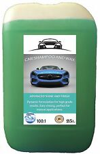 25L Professional valeting Car shampoo WITH WAX! for detailing, Free rinsing.