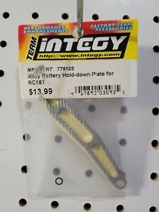 Integy T7612 Silver Alloy Battery Hold Down Plate for Team Associated RC18T