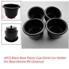 4x Black Boat Plastic Cup Drink Can Holder For Car Boat Marine RV Universal Set
