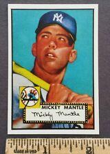 "Mickey Mantle New York Yankees Rare ""Mini Rookie Reprint"" Baseball Card"