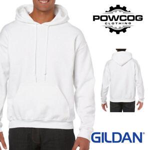 GENUINE GILDAN HEAVYWEIGHT Plain Hooded Sweatshirt Hoodie G18500  34 COLOURS