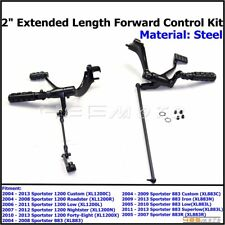 Black Forward Control Kit With Shifter & Foot Pegs For Harley-Davidson Iron 883