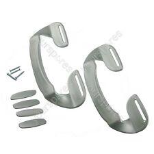 2 x Whirlpool Universale Argento Plastica Congelatore Frigorifero Porta Impugnatura Manico