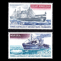 "TAAF 1980 - Antarctic Supply Ships ""Norsel & Saint Marcouf""- Sc C62/3 MNH"