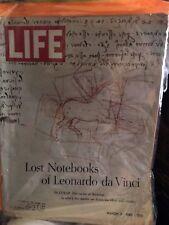 Life Magazine March 3 1967 {Lost notes of Leonardo da Vinci{ back issue