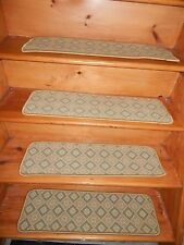 """13 STEP  9"""" X 30""""  Stair Treads Staircase Step WOVEN WOOL CARPET."""