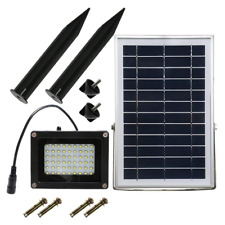 DINHAND Solar Lights Outdoor With Long 5m/16.4ft Extension Wire, 54 LED & 400