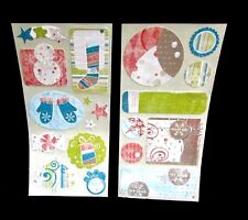 Creative Memories Stickers Christmas Holiday Winter Muted 2 Packets 4 Sheets