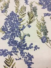 'Fougere' Sapphire Blue, Romo 100% Cotton Satin Floral By The Metre