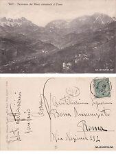 # VALLI: PANORAMA DEI MONTI CIRCOSTANTI IL PAESE  1915