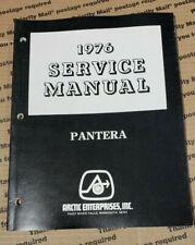 Arctic Cat Snowmobile 1976 Pantera Service Manual, 0153-087