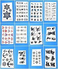 12 sheets wholesale finger wrist hand face micro temporary tattoo mini small
