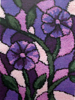 Stained Glass Printed Canvas Latch Hook Rug Kit - Everything included