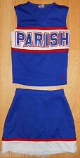 "Parish Red, White, & Royal Blue Varsity Cheerleading Uniform 32"" x 25"""