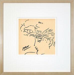 PETER MAX - old sketch pencil INK - HANDMADE !!!