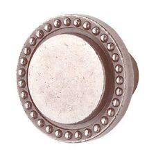 """Cabinet Knob Pewter Solid Brass 1 1/4"""" Dia   Renovator's Supply"""