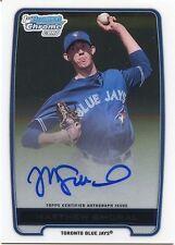 2012 Bowman DP&P Chrome Matthew Smoral On Card Autograph Toronto Blue Jays