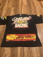 Vintage Rusty Wallace All Over Print Shirt Miller Racing 2 NASCAR XXL