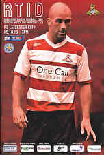 2013/14 DONCASTER ROVERS V LEICESTER CITY 05-10-2013 Championship (Mint)