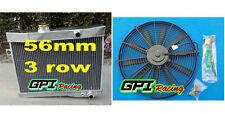 aluminum radiator +FAN Volvo Amazon P1800 B18 B20 engine GT M/T 59-70