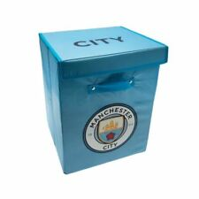 OFFICIAL MANCHESTER CITY FC FABRIC STORAGE / LAUNDRY BOX FOLDABLE BLUE