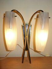 Rockabilly Wandlampe zwei Glas-Tüten-Lampenschirme Sputnik Mid Century Space Age