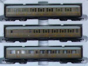 3 HORNBY TEAK COACHES MALLARD FLYING SCOTSMAN LNER etc BRAKE & COMPOSITES