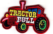 """TRACTOR PULL"" - IRON ON EMBROIDERED PATCH - FARM - VEHICLE - COMPETITION"