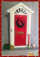 Rouge Noël Handmade ELF Santa Fée Porte peut personnaliser avec no.