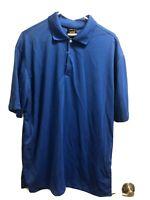 Men's NWT  NIKE Dri Fit Golf polo shirt Short sleeve, Blue Size  Large