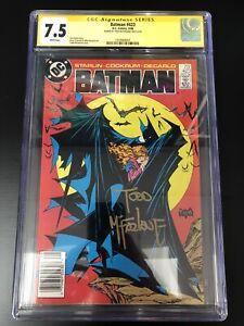 Batman 423 CGC 7.5 Signature Series Todd Mcfarlane Rare Newsstand UPC