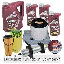 Inspektionspaket Filterset Audi A4 8K B8 2.7 3.0 TDI + 8L 5W30 Mannol Öl