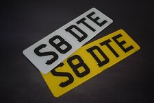 Pair Short Small 5 digit Road Legal Number Plate MOT Compliant - FREE POSTAGE