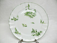 Bernardaud Limoges Versailles Green, Dinner Plate - French Country Scenes