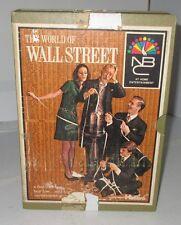 1969 THE WORLD OF WALL STREET HASBRO BOOKCASE BOARD GAME BOOKSHELF NBC BUY SELL