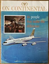 CONTINENTAL AIRLINES 1966 PROFILE BROCHURE B707 INTRO CABIN CREW CONCORDE