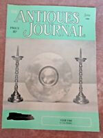 Antiques Journal 1958 American Souvenir Spoons Tavern Signs Optical Devices Fans
