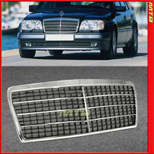 94-95 MB E Class W124 A124 C124 Front Grille 7 Trim Style Chrome Stainless Steel