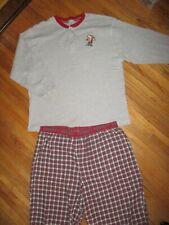 GRUMPY PAJAMAS SET OUTFIT Flannel Thermal Shirt Pants Snow White 7 Dwarfs XL/2XL