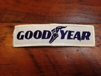 Vintage Goodyear Wingfoot Logo Blue White Embroidered Rockabilly Greaser Patch