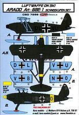 KORA Models LUFTWAFFE ON SKIS ARADO Ar-68E-1 Resin Set with Decals