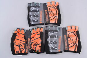 LOT of 3 Pairs of Forte Sportswear Fingerless Cycling Gloves Adult 2XL Race Fit